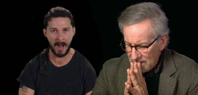 Shia-LaBeouf-Steven-Spielberg
