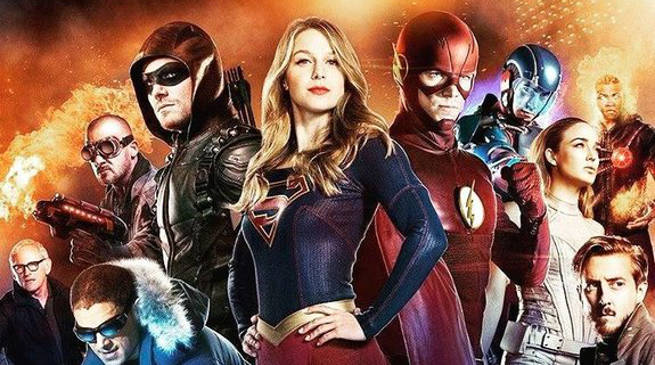 Supergirl Flash Arrow Legends Tomorrow Invasion Crossover Extended Trailer
