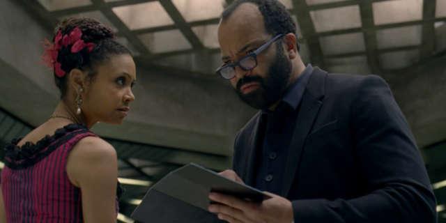 Thandie Newton as Maeve and Jeffrey Wright as Bernard- credit John P Johnson HBO