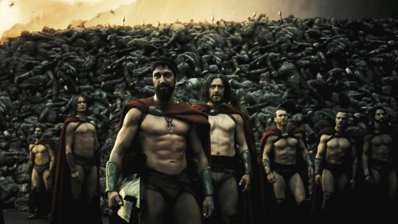 300 Movie Wall of Corpses
