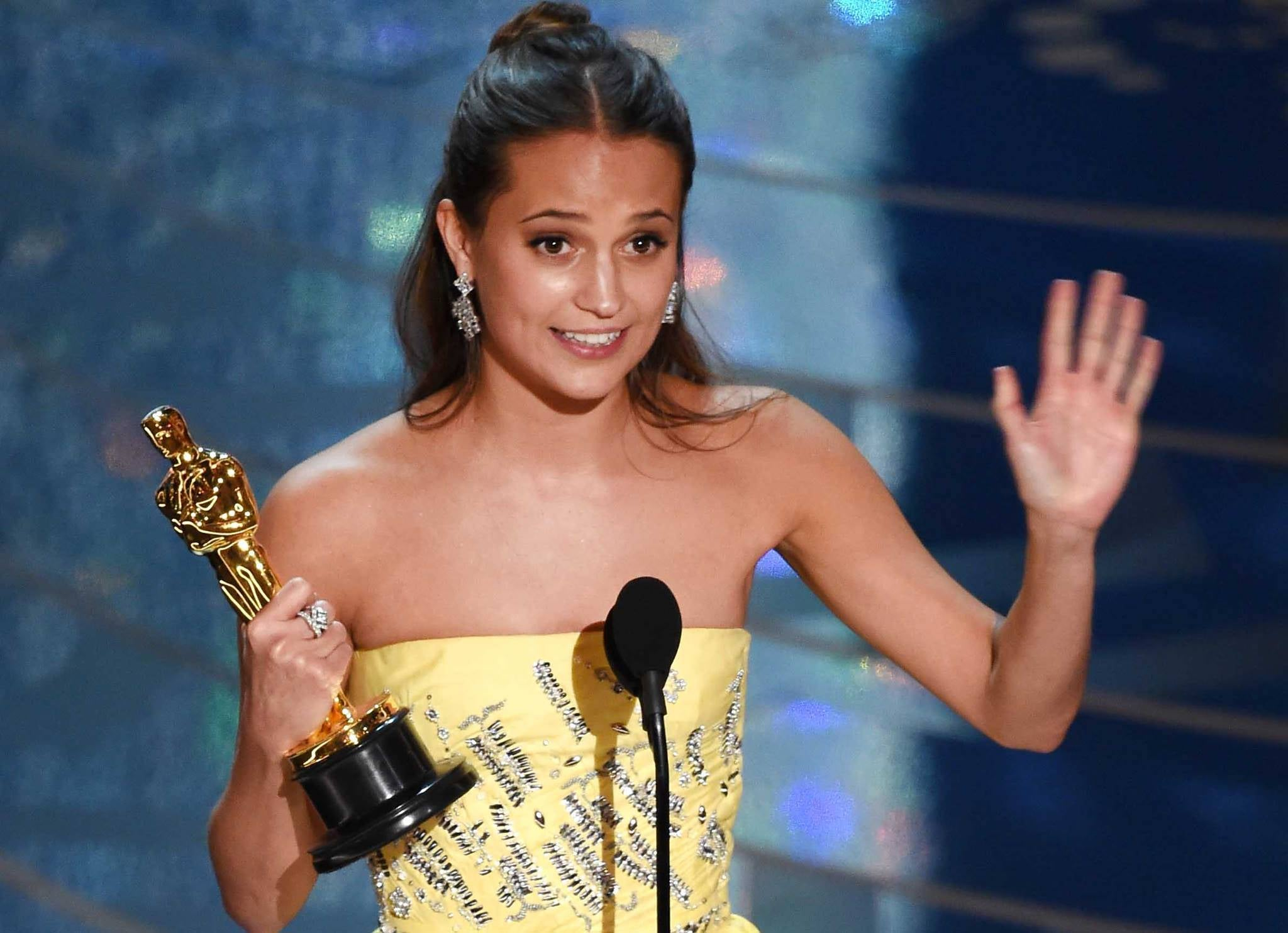 alicia vikander oscars academy awards tomb raider