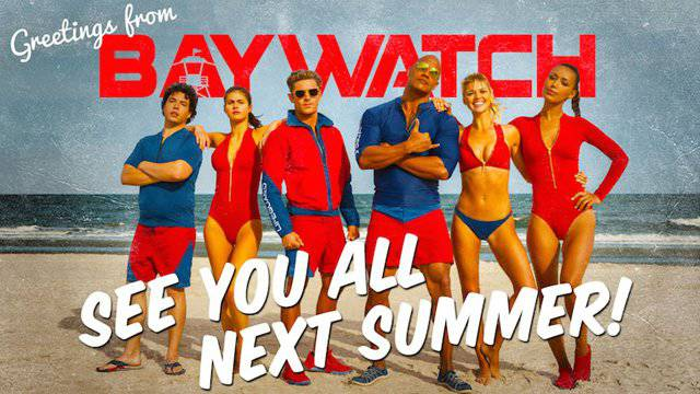 Baywatch Movie Post Card