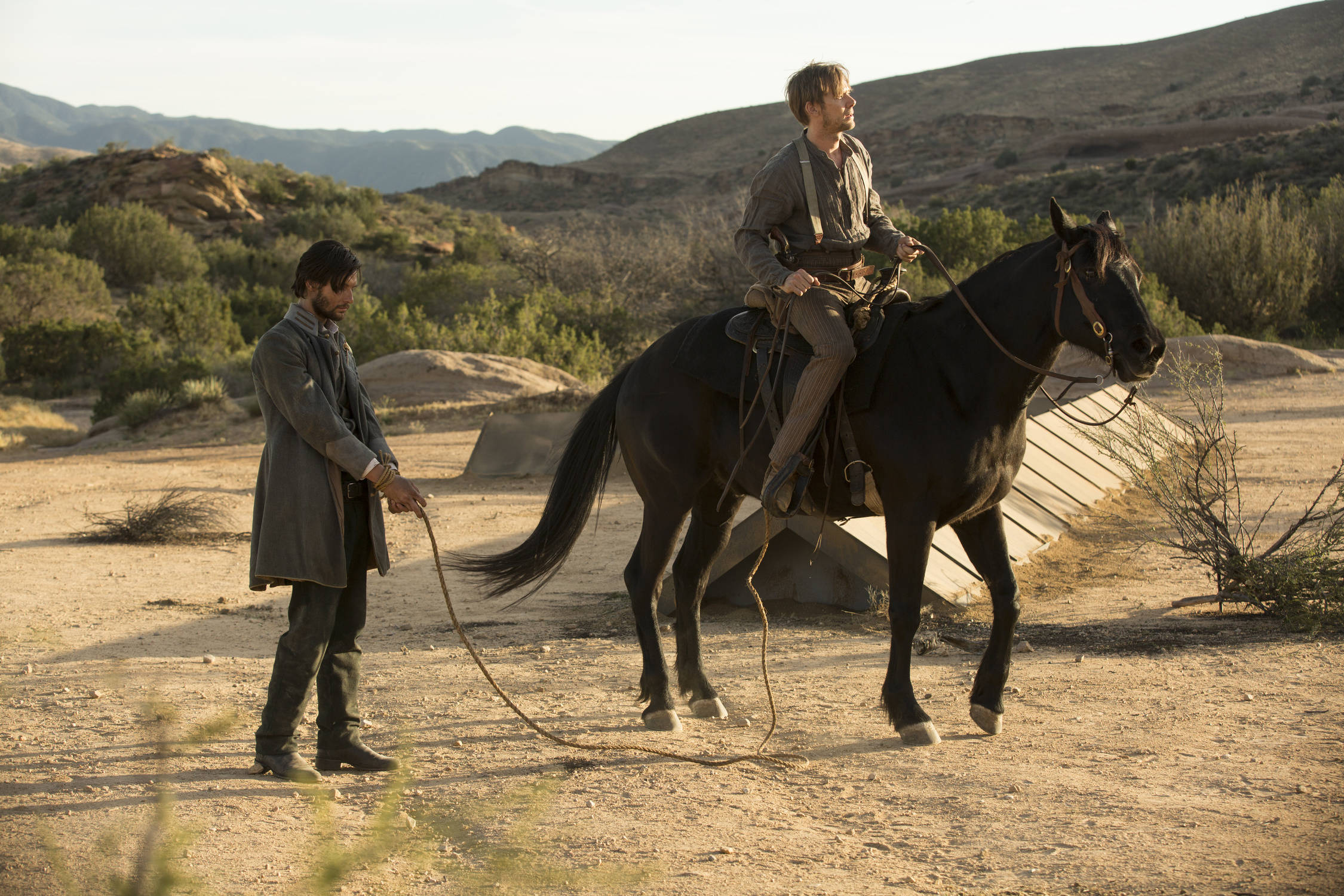 Ben Barnes as Logan, Jimmi Simpson as William - credit John P Johnson H