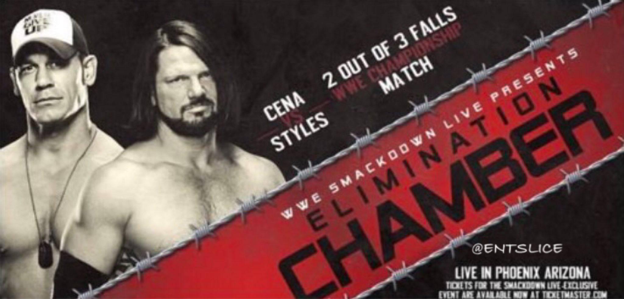 Cena v Styles Elimination chamber