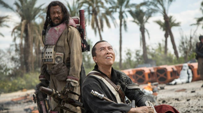 Donnie Yen and Wen Jiang in Rogue One Star Wars Story