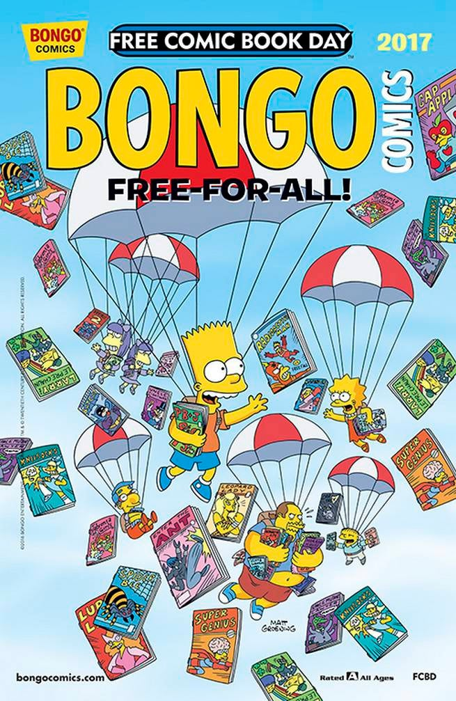 FCBD17_G_BONGO Comics - Bongo Comics Free-For-All