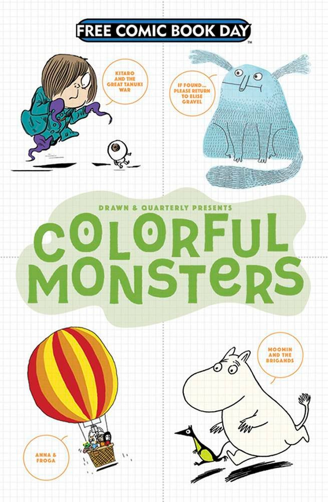 FCBD17_S_Drawn n Quarterly - Colorful Monsters Enfant Sampler