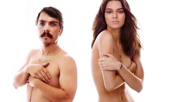 Kendall Jenner and Kirby photoshop in GQ