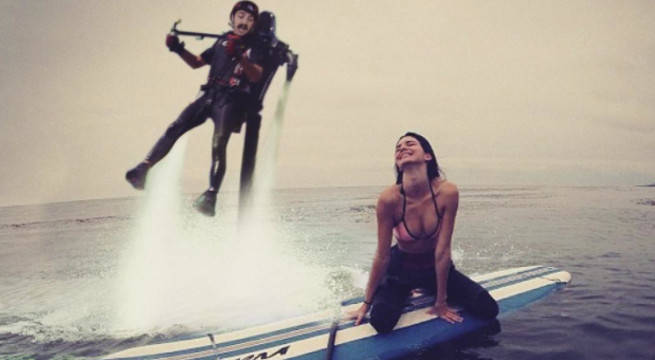 Kendall jenner and kirby photoshop in ocean