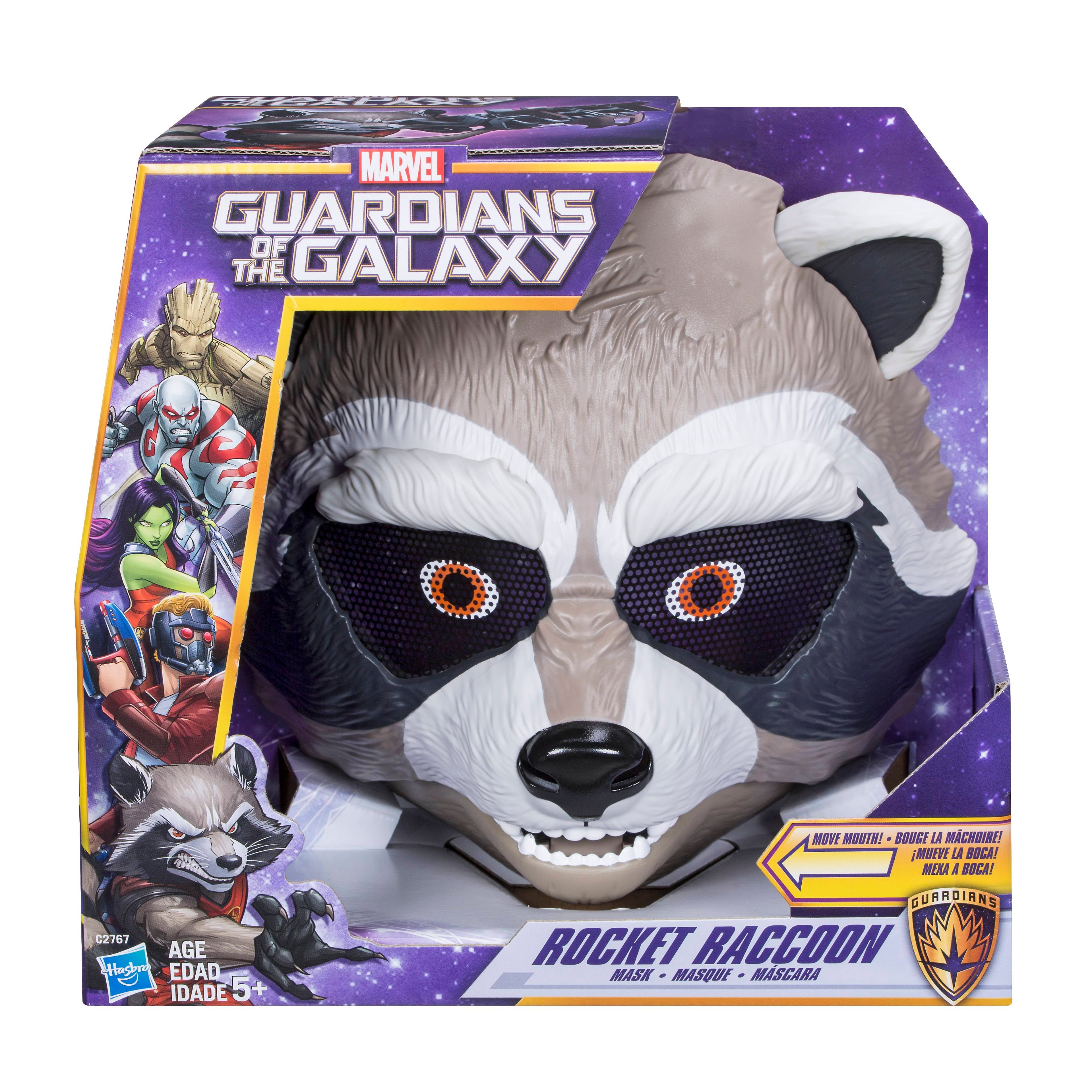 MARVEL GUARDIANS OF THE GALAXY ROCKET RACCOON ACTION MASK - in pkg
