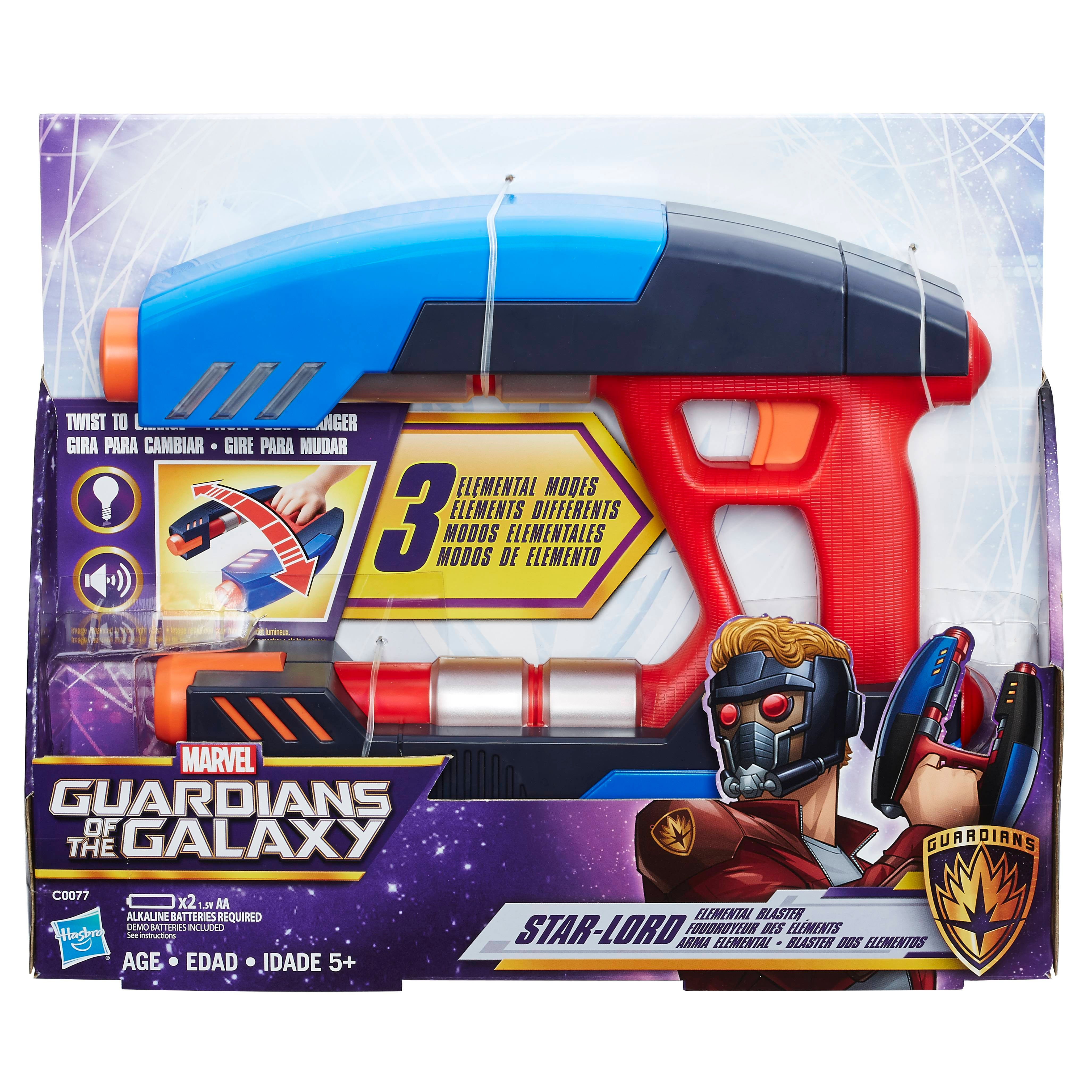 MARVEL GUARDIANS OF THE GALAXY STAR-LORD ELEMENTAL BLASTER - in pkg