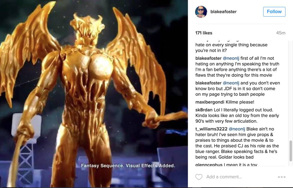 Power Rangers Movie 2017 Jason David Frank Confirmed by Blake Foster