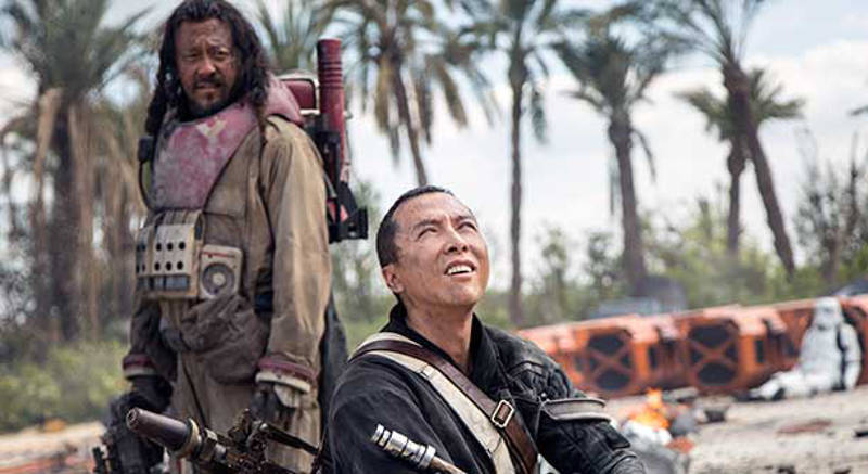 Rogue One Star Wars Baze Malbus Chirrut Imwe death scenes