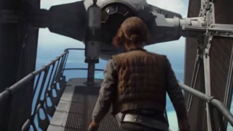 Rogue One Star Wars Story Deleted Scenes - Jyn vs TIE Fighter