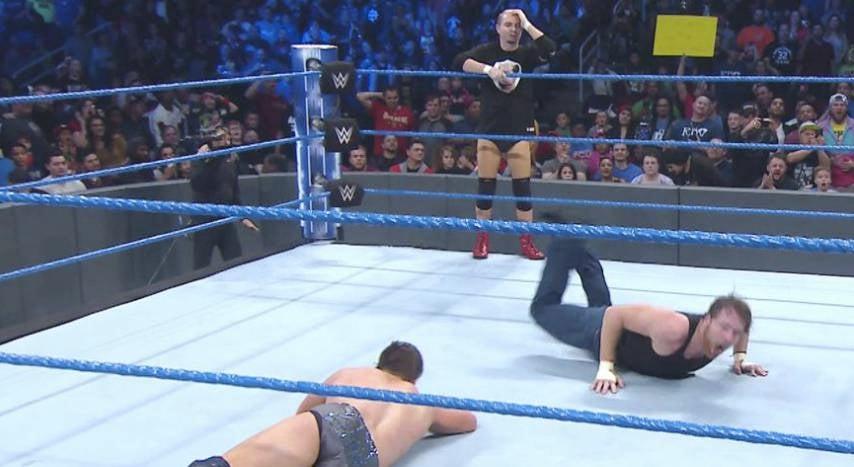 James Ellsworth costs Dean Ambrose IC title