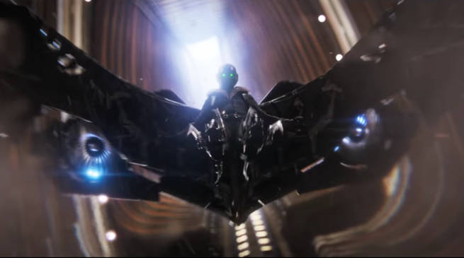 Spider-Man Homecoming Trailer Vulture Costume in Flight