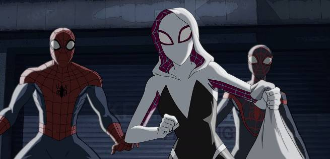 spidergwen-milemorales-peterparker-spiderman