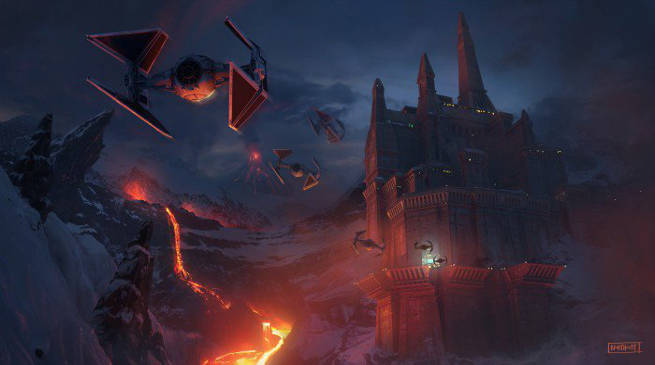 Star Wars Darth Vader Castle Mustafar