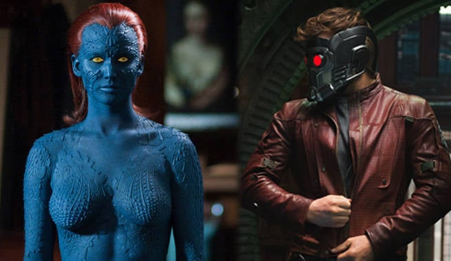 Chris Pratt And Jennifer Lawrence Imagine A Star-Lord And Mystique Love Story
