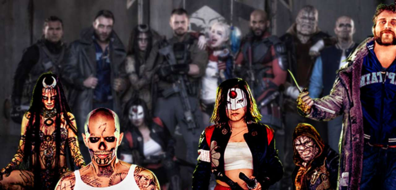 suicide squad: alternate killer croc, enchantress, diablo, katana