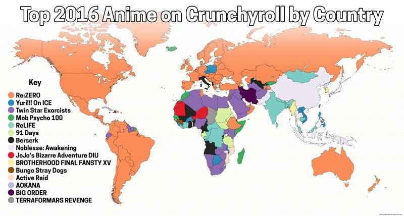 Top Anime by Country   Crunchyroll 2016 copy