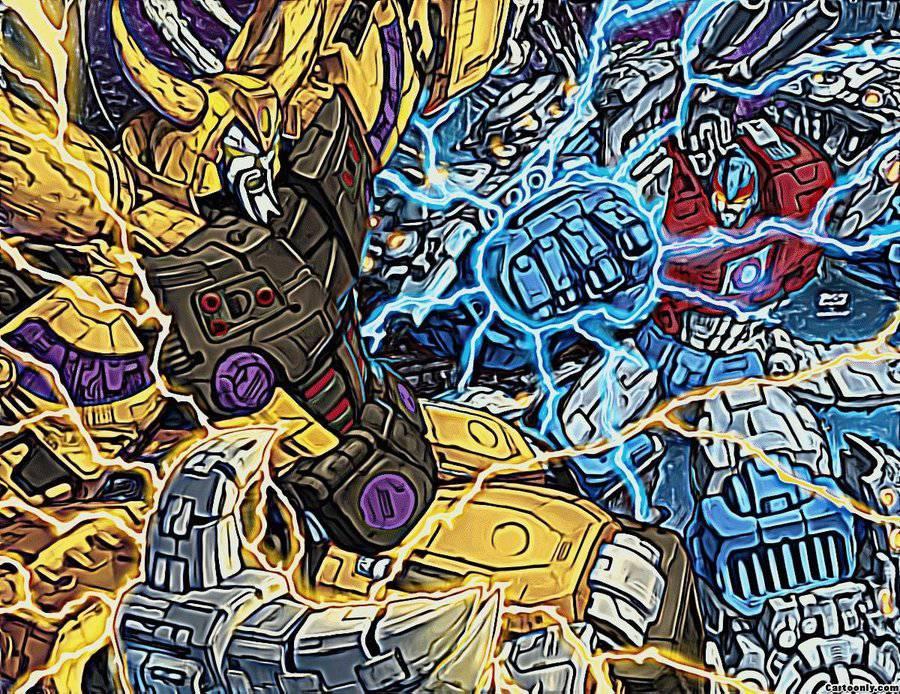 Transformers Unicron vs primus by xana2012-d3erejj