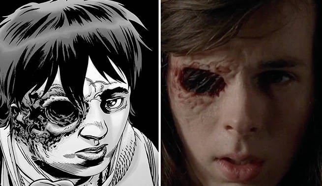 TWD Carl Eye Comics