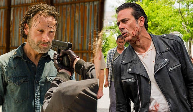 TWD Rick Negan Fight