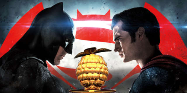 batman v superman zack snyder golden raspberry razzies