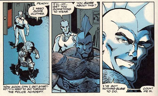 Savage Dragon lettering example
