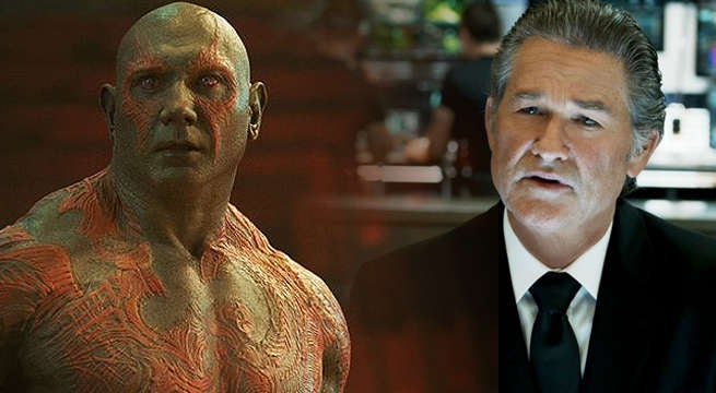 Dave Bautista Talks About Kurt Russell On The Set Of Guardians Of The Galaxy Vol. 2