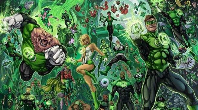 Green Lantern Corps in Battle
