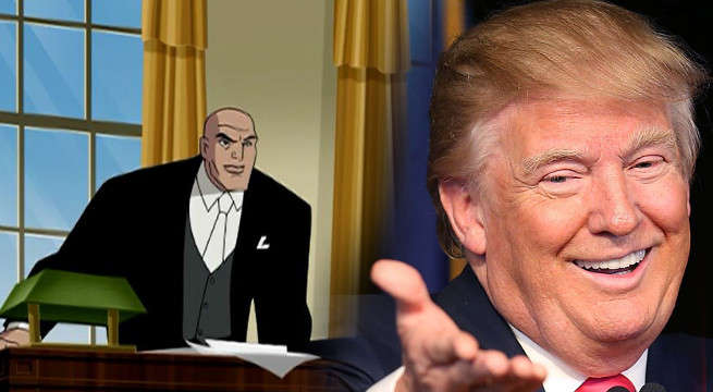 Jimmy Kimmel Turns Donald Trump Into Lex Luthor