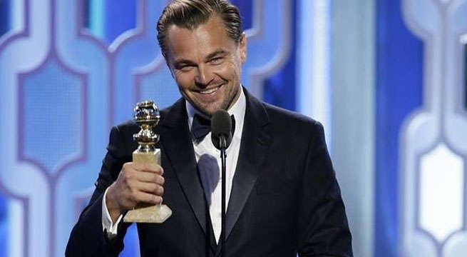 loenardo dicaprio golden globe awards