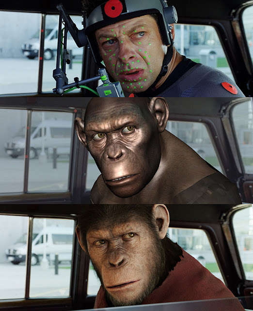 Movies Images Before After Visual Effects - Rise of the Planet of the Apes
