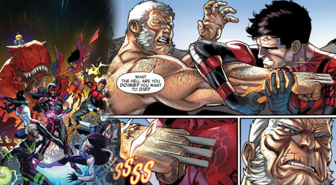 Old Man Logan Versus Inferno Inhumans versus X-Men