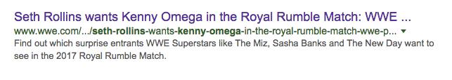 Seth Rollins Kenny Omega