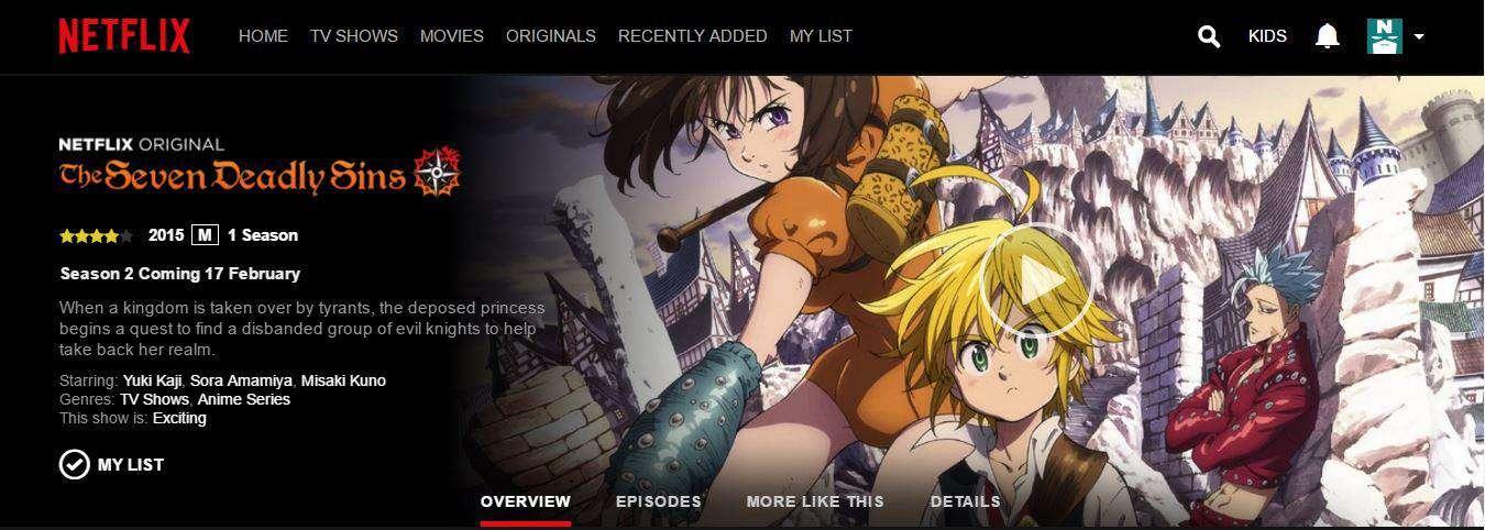 Netflix Seven Deadly Sins Staffel 3