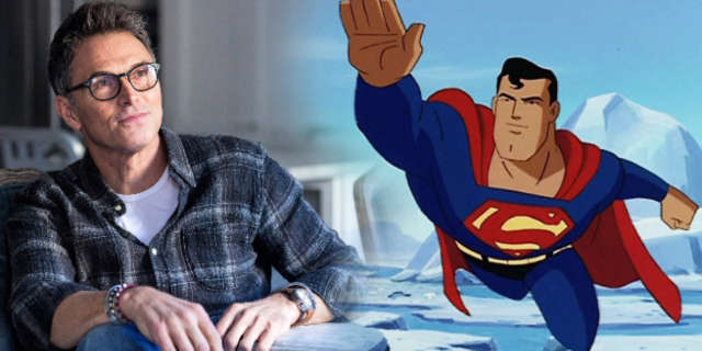 tim daly superman animated series broke legs skiing