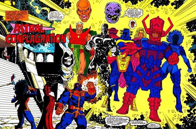 Avengers Inifinty War Thanos vs Eternity Living Tribunal Galactus
