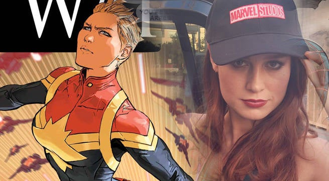 "Captain-Marvel-Brie-Larson ""title ="" Captain-Marvel-Brie-Larson ""height ="" 360 ""width ="" 655 ""daten-item ="" 234195 ""/>    <figcaption> [Photo: Marvel Studios / Marvel Comics] </figcaption></figure> <p>  A fan was so happy to see the new Captain Marvel art that she also received from her smooth Captain Marvel Tattoo showed the ink is in full color and shows Carol as she's about to knock someone down, we're pretty sure Brie would be immensely proud. </p> <blockquote class="