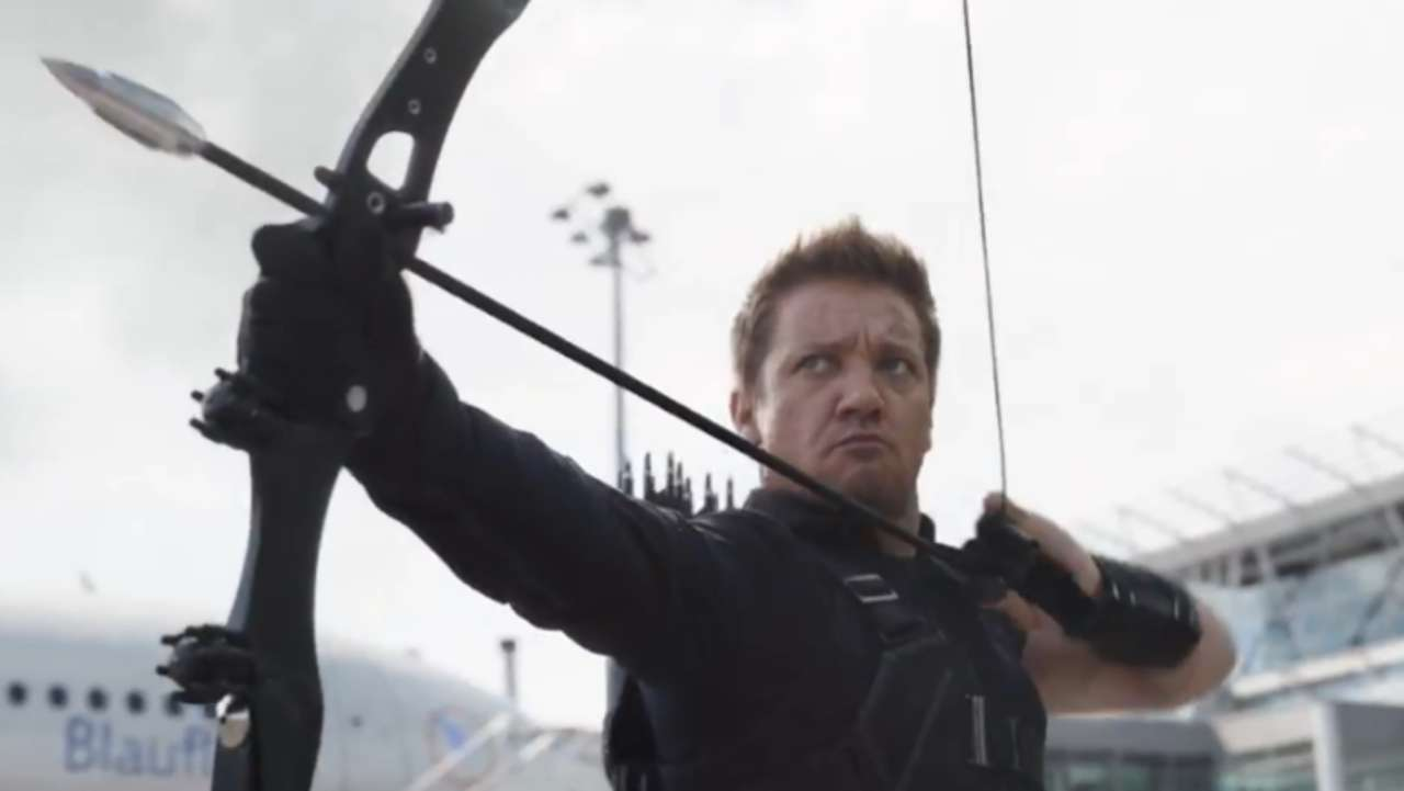 avengers: infinity war' star jeremy renner shows off hawkeye's new