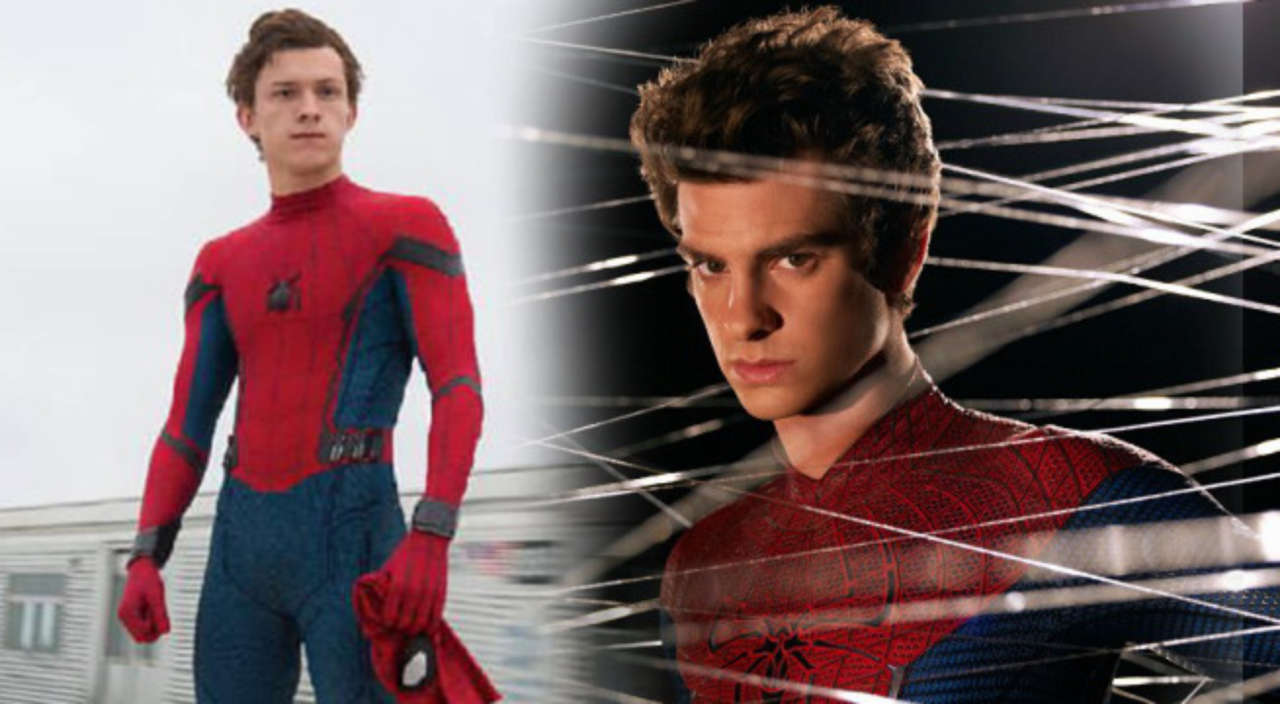 Spider mans tom holland meets andrew garfield for the first time m4hsunfo