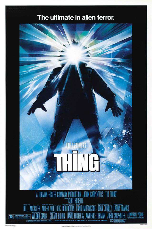 the thing movie poster remake 1982