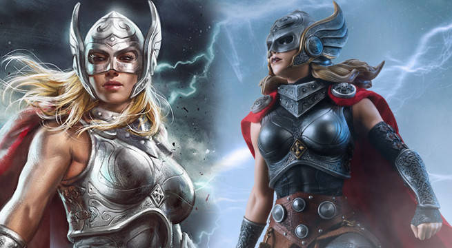 thor mighty jan foster statue art print sideshow premium format figure