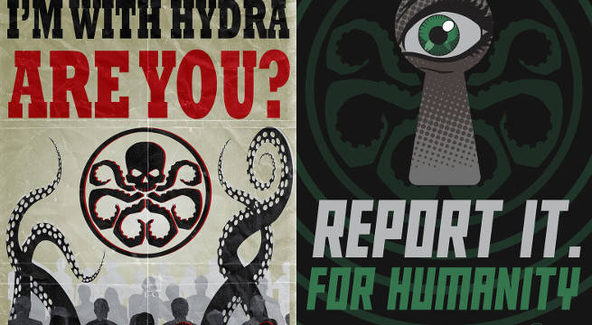 agents of shield hydra propaganda posters