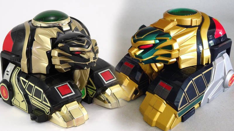 Lion Thunderzord Green and Black