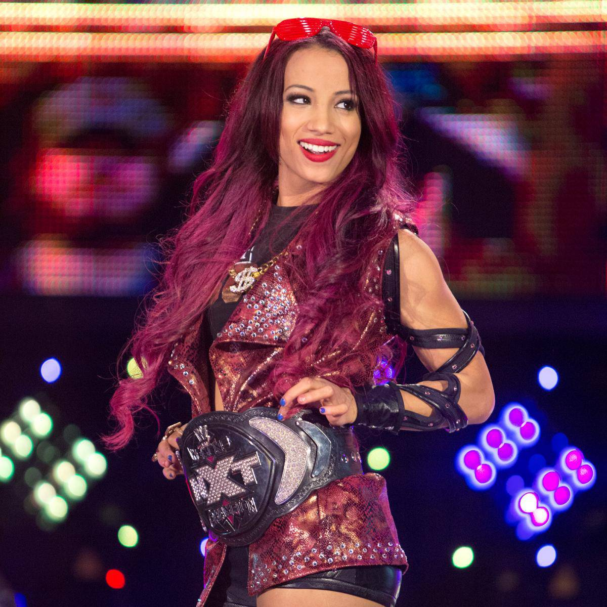 NXT-Sasha-Banks-Purple-Hair-Champ-Purple-Jacket