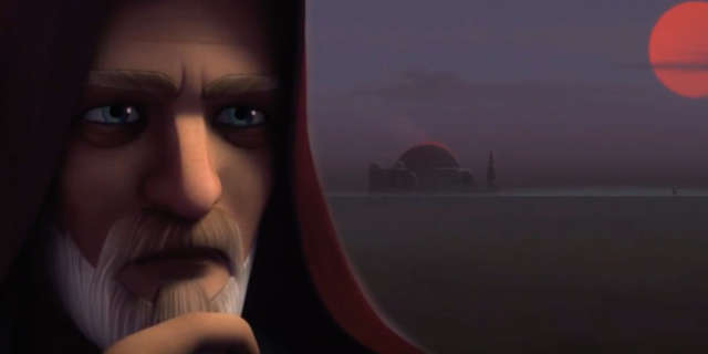obi want kenobi watches luke skywalker star wars rebels twin suns