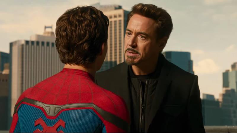 Spider-Man Homecoming Tony Stark Peter Parker Scene